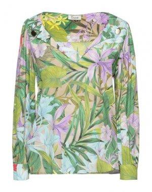 Блузка DIXIE. Цвет: зеленый