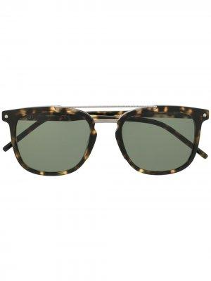 Tods солнцезащитные очки-авиаторы черепаховой расцветки Tod's. Цвет: коричневый