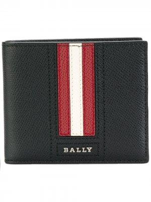 Бумажник в полоску Bally. Цвет: черный