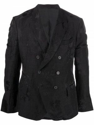 Пиджак с цветочной вышивкой Haider Ackermann. Цвет: черный