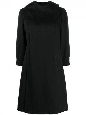 Пальто со смещенной застежкой Pierre Cardin Pre-Owned. Цвет: черный