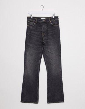 Черные расклешенные джинсы узкого кроя с завышенной талией -Черный ASOS DESIGN