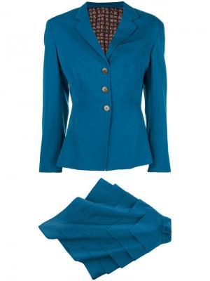 Костюм с асимметричной юбкой Jean Paul Gaultier Vintage. Цвет: синий