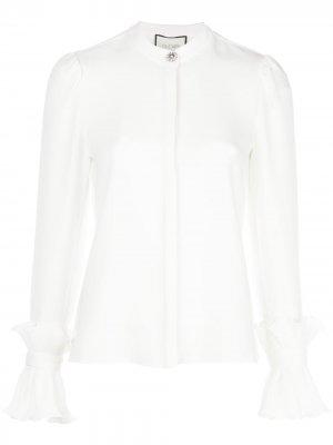 Рубашка Meera с оборками Alexis. Цвет: белый