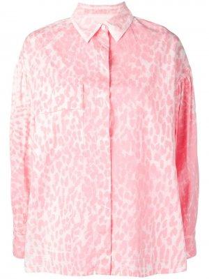 Рубашка с леопардовым принтом 8pm. Цвет: розовый