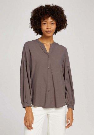 Блуза Tom Tailor. Цвет: коричневый