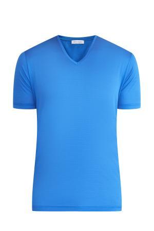 Футболка GRAN SASSO. Цвет: голубой