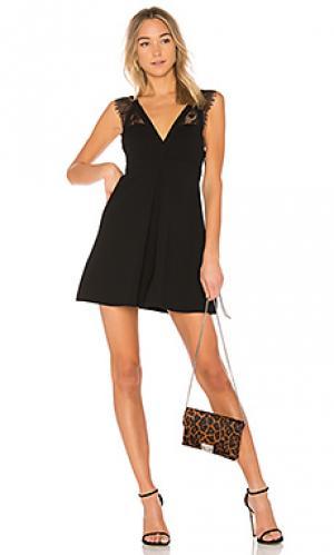 Платье с кружевной отделкой BCBGeneration. Цвет: черный