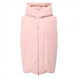 Пуховый жилет Jil Sander. Цвет: розовый