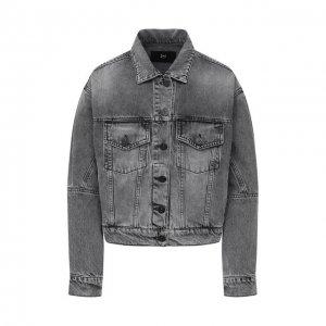 Джинсовая куртка 3x1. Цвет: серый