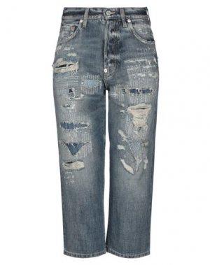 Джинсовые брюки-капри GIVENCHY. Цвет: синий