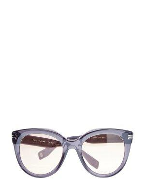 Солнцезащитные очки с мерцающими дужками и монограммой MARC JACOBS (sunglasses). Цвет: черный
