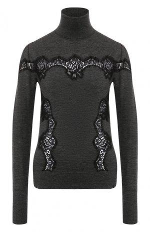 Пуловер из смеси шерсти и хлопка Dolce & Gabbana. Цвет: темно-серый
