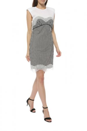 Платье JIJIL. Цвет: черно-белая полоска