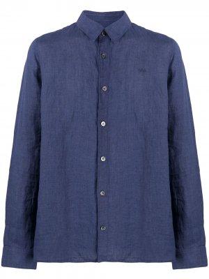 Однотонная рубашка на пуговицах A.P.C.. Цвет: синий
