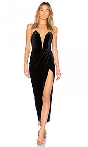 Бархатное вечернее платье jake Michael Costello. Цвет: черный