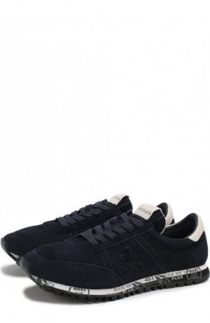 Замшевые кроссовки Sean Premiata. Цвет: синий