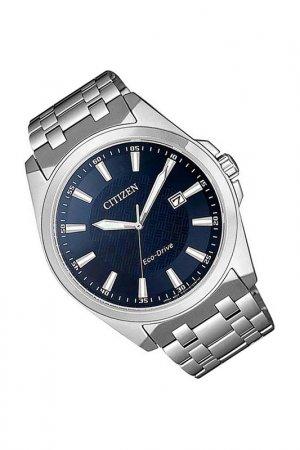 Наручные часы CITIZEN. Цвет: синий