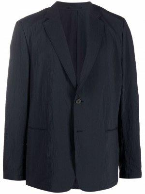 Пиджак Clinton с жатым эффектом Theory. Цвет: серый
