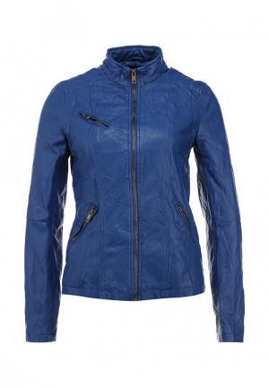 Куртка кожаная Incity. Цвет: синий