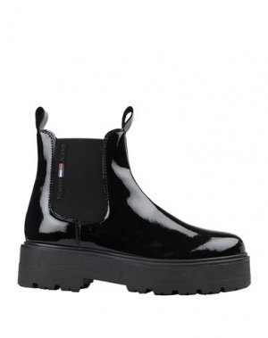Полусапоги и высокие ботинки TOMMY JEANS. Цвет: черный