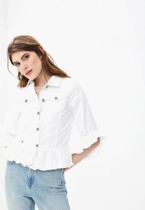 Куртка джинсовая Rinascimento Pure Code. Цвет: белый