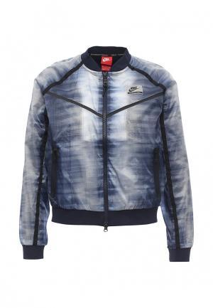 Куртка утепленная Nike W NK INTL JKT FZ AOP. Цвет: синий