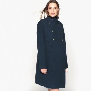 Пальто для периода беременности LA REDOUTE MATERNITÉ. Цвет: темно-синий
