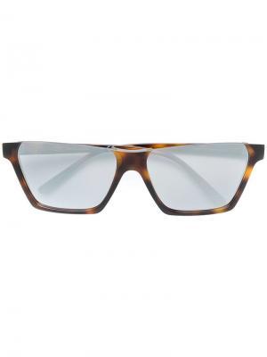 Солнцезащитные очки в прямоугольной оправе Celine Eyewear. Цвет: коричневый
