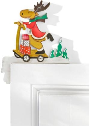 Декор для дверной коробки Лось на самокате (красный/зеленый/светло-коричневый/белый) bonprix. Цвет: красный/зеленый/светло-коричневый/белый