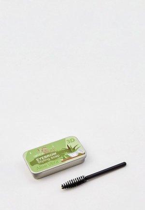 Мыло для укладки бровей Hatparad 3D Yeybrow Stylind Warda Beauty, щеточка в комплекте. Цвет: прозрачный