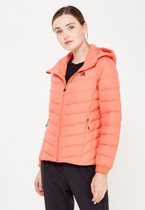 Пуховик adidas W CW NUVIC JKT. Цвет: коралловый