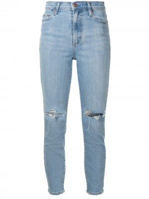 Укороченные джинсы Siren с прорезями Nobody Denim. Цвет: синий