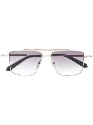 Солнцезащитные очки Classic Shave в квадратной оправе EQUE.M. Цвет: серебристый