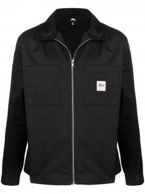 Куртка Work на молнии Stussy. Цвет: черный
