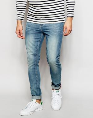 Светлые джинсы скинни ASOS DESIGN. Цвет: синий