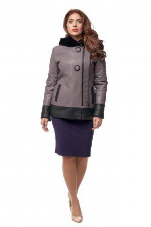Женская кожаная куртка из эко-кожи с капюшоном МОСМЕХА