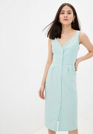 Платье GALOLBO. Цвет: бирюзовый