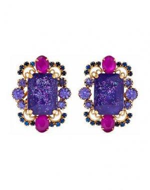 Серьги ELIZABETH COLE. Цвет: фиолетовый