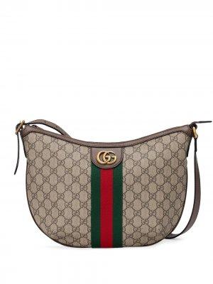 Маленькая сумка на плечо Ophidia GG Gucci. Цвет: коричневый