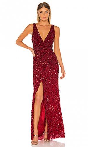 Вечернее платье monarch Parker Black. Цвет: красный