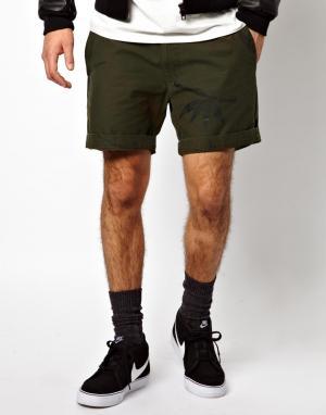 Камуфляжные шорты с бамбуковым принтом Perti 55DSL