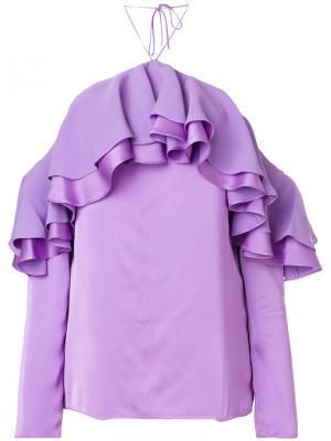 Ruffled top Emilio Pucci. Цвет: розовый и фиолетовый