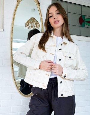 Светло-бежевая джинсовая куртка -Кремовый Noisy May