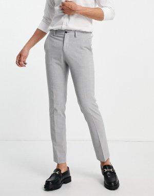 Серые костюмные брюки зауженного кроя Premium-Серый Jack & Jones