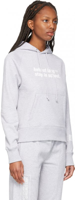Grey School Hoodie Helmut Lang. Цвет: vapor heat