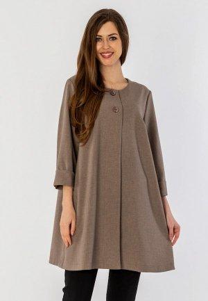 Пальто S&A Style. Цвет: коричневый