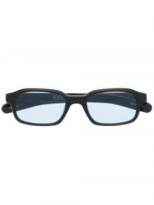 Солнцезащитные очки в квадратной оправе FLATLIST. Цвет: черный
