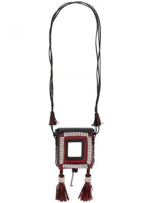 Колье Marrakech с портсигаром Saint Laurent. Цвет: черный