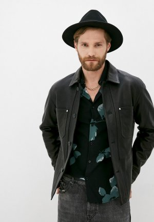 Куртка кожаная The Kooples BLACK. Цвет: черный